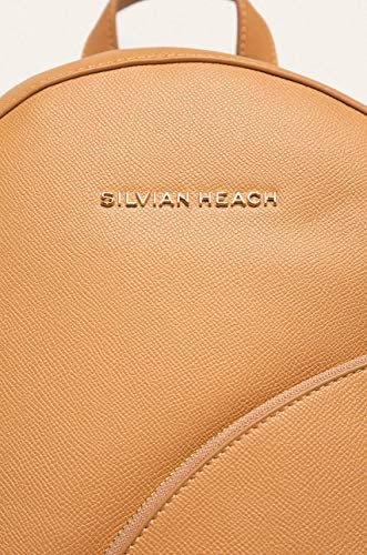 RCP20033 - Women's backpack Sivian Heach DANIA in hammered effect faux leather with external pocket (BEIGE)