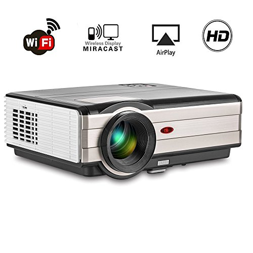 Authentic 200 lcd hd android projector wifi 4200 lumen for Apple wireless projector