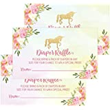 25 Unicorn Diaper Raffle Ticket Lottery Insert Cards...