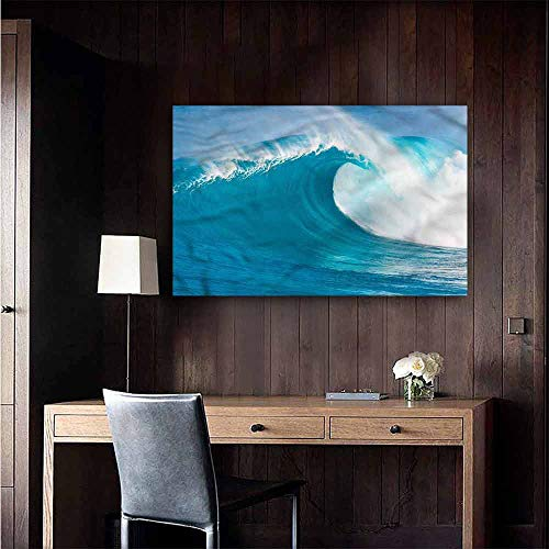 Gabriesl Self Adhesive Wallpaper for Home Bedroom Decor Ocean Clean Big Wave Windy Weather Background Wall Stickers Size : W20 x H16