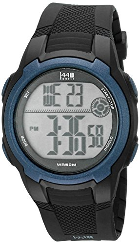 Timex Mens T5K086 1440 Sport Watch with Black Band