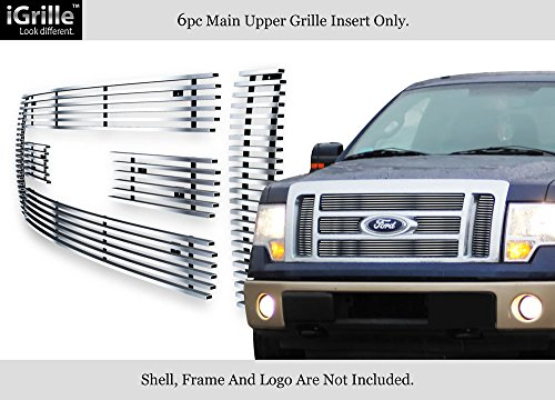 For 09-11 2011 Ford F-150 Lariat/King Ranch Stainless Steel Billet Grille #F66788C