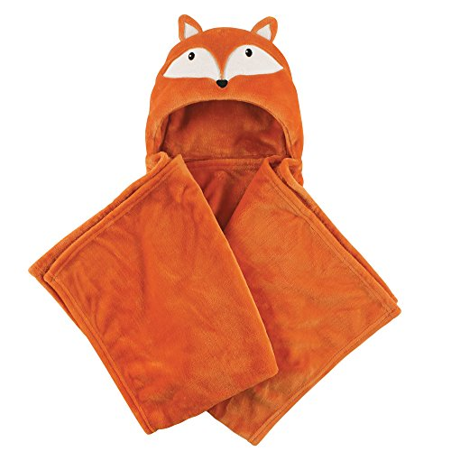 Hudson Baby Unisex Baby and Toddler Hooded Plush Blanket, Fox, One Size (Blankets Fox)