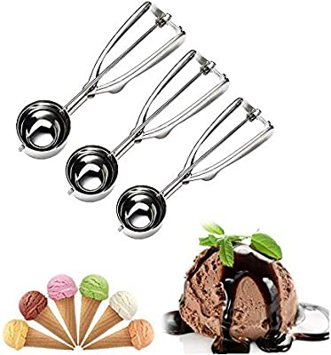 Stainless Steel Ice Cream Craft Scoop Cookie Mash Muffin Spoon 6cm