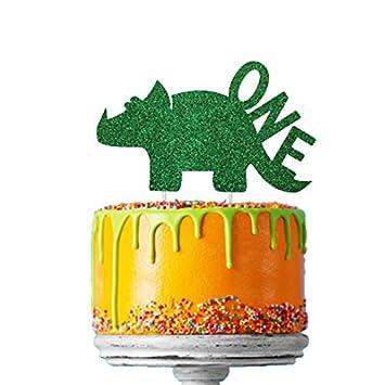 Awesome Lissielou Dinosaur 1St Birthday Cake Topper Number One Dinosaur Funny Birthday Cards Online Kookostrdamsfinfo