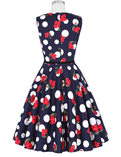 Women Retro Dresses Fit and Flared Sleeveless Size XL F-52