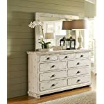 "Progressive Furniture Willow Drawer Dresser, 66"" x 20"" x 44"", White"