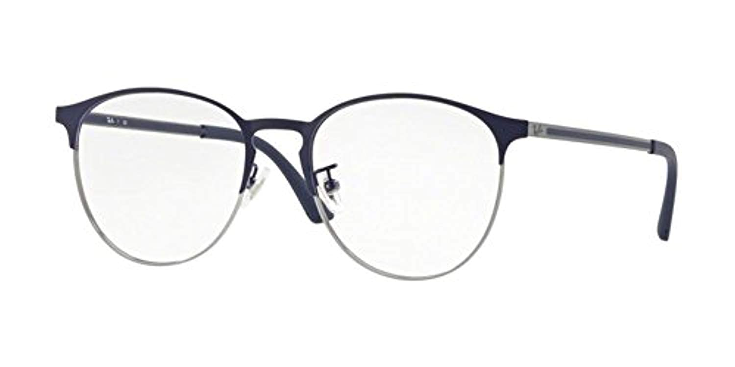 314d1586ff Amazon.com  Ray-Ban Unisex RX6375F Eyeglasses Gunmetal On Top Blue 55mm   Clothing