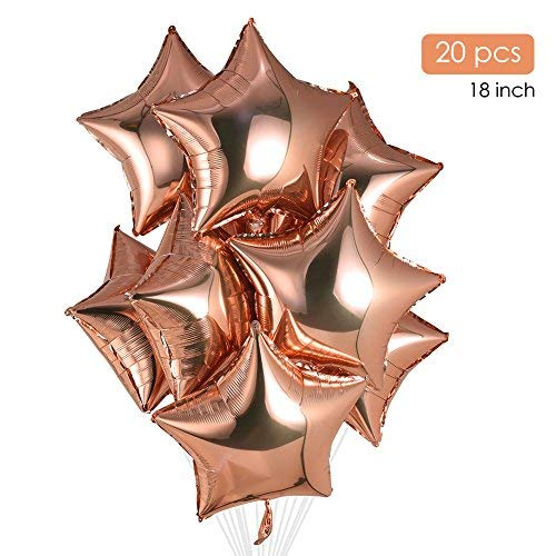 Rose Gold Star Foil Balloons 18 Inch Mylar Balloons Party He