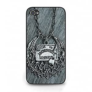Iphone 4 4s Phone Cover Shell, Classical Exquisite Retro Witchcraft Spirit Board Design Ouija Board Phone Case Cover for Iphone 4 4s