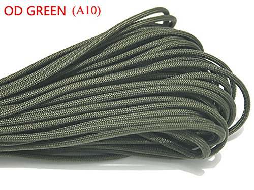 (100ft 550 Paracord Parachute Cord Lanyard Mil Spec Type III 7 Strand Core (OD Green))