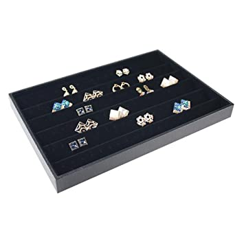 Amazoncom Elife Black Velvet Earring Jewelry Organizer Tray