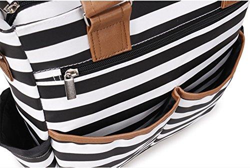 Paquete multifuncional de mamá de gran capacidad ( Color : En blanco y negro ) Gris claro