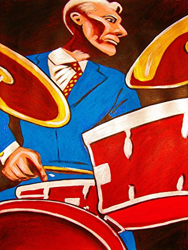 charley-watts-print-poster-drums-cd-lp-record-album-vinyl-the-rolling-stones-tom-tom-snare-cymbals-k