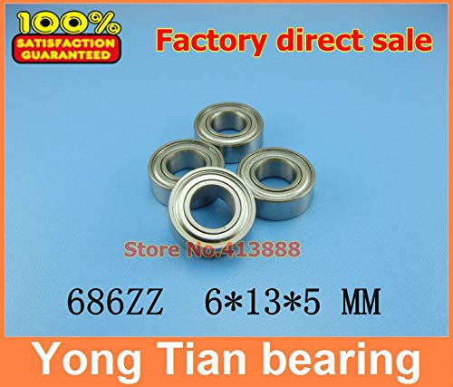 Ochoos Sale Price 10pcs SUS440C Stainless Steel deep Groove Ball Bearings S686ZZ 6135 mm ABEC-1 Z2 from Ochoos