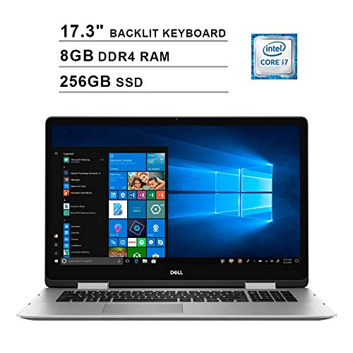 Dell 2019 Inspiron 17 7000 17.3 Inch FHD Touchscreen 2-in-1 Laptop (Intel Quad Core i7-8565U up to 4.6 GHz, 8GB RAM, 256GB SSD, Backlit Keyboard, NVIDIA GeForce MX250, WiFi, Bluetooth, Windows 10) (Dell Xps 13 Best Configuration)