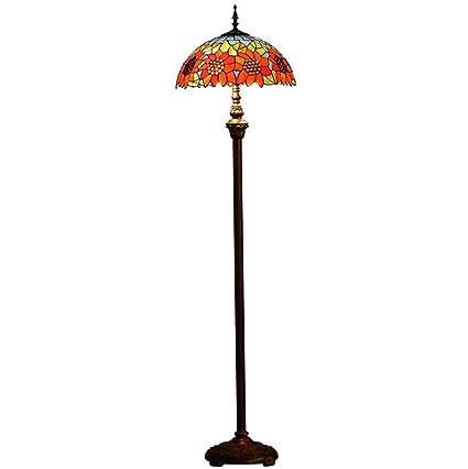 YDYG Lámpara de pie de Estilo Tiffany, lámpara de pie de ...