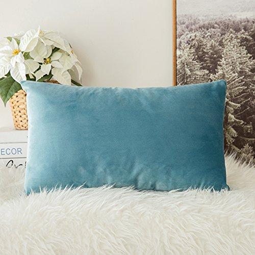 - MIULEE Velvet Soft Soild Decorative Square Throw Pillow Covers Cushion Case for Sofa Bedroom Car 12 x 20 Inch 30 x 50 cm