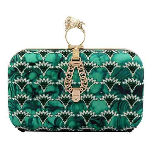 Evening Trinket Women Purses for Clutch Designer Gupta by Puneet Indian Green Stylish TqxYw6dd