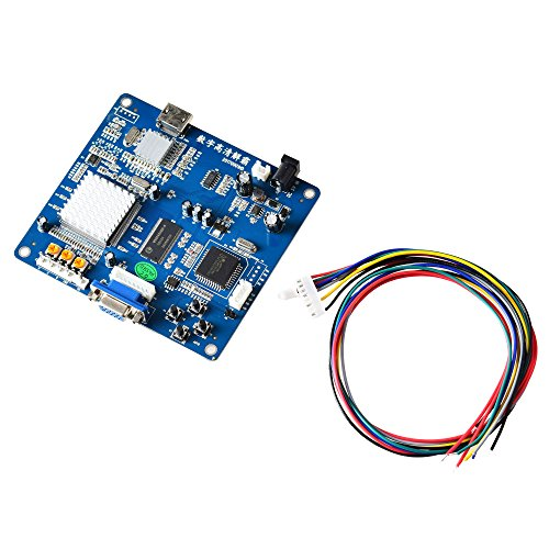 Mcbazel Arcade Game VGA RBGS RGBSHV To HDMI Game Video Output Converter Board with Cable ()