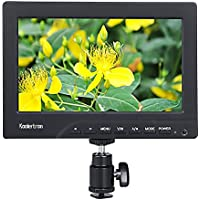 Koolertron Protable 1080p 7 Inch Camera/Crane Jib Field Monitor DSLR HDMI VGA W/F970 Adapter