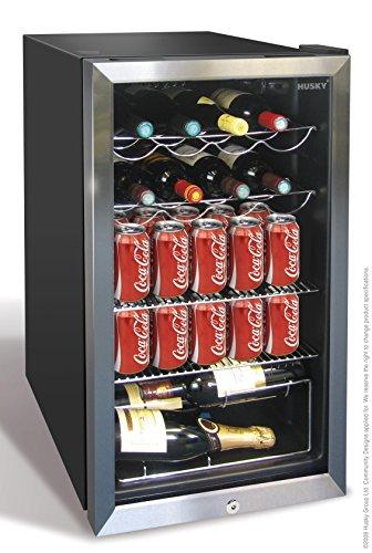 Husky HUS-HM39-HN Wine Cooler, 91 litre, Black