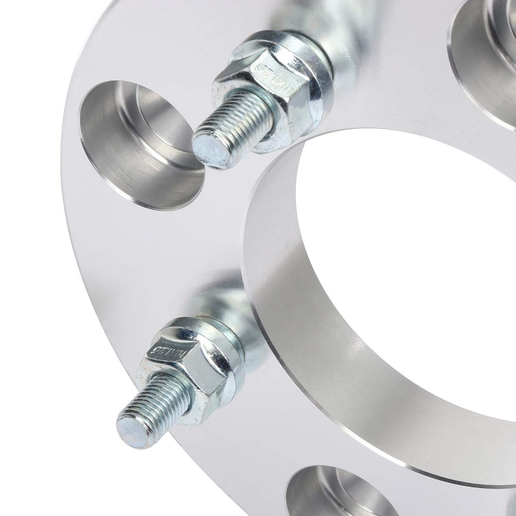 ECCPP 4 lug Wheel Spacers 4x137 to 4x115 10x1.25 85 1 silver Compatible with 2003-2006 Bombardier Outlander 400