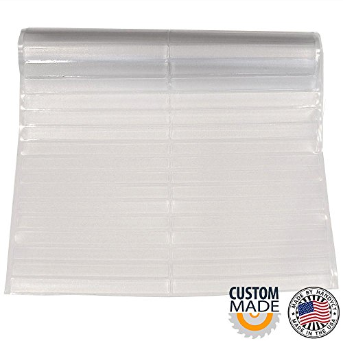 27 inches wide x 6 feet length Clear Vinyl Hard Floor Protector / Runner - SALES PER LINEAR FOOT - (Carpet Runners By The Foot Sale)