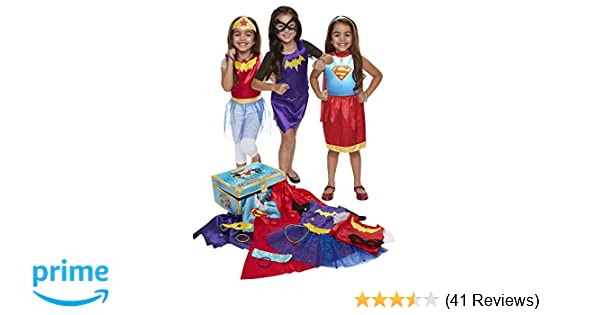 Amazon DC Super Hero Girls 21 Piece Dress Up Trunk Exclusive Toys Games
