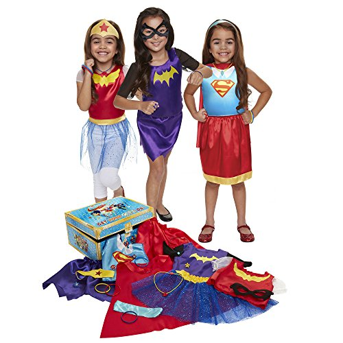 Poison Ivy Fancy Dress Costumes (DC Super Hero Girls DCSHG 21 Piece Dress-Up Trunk)