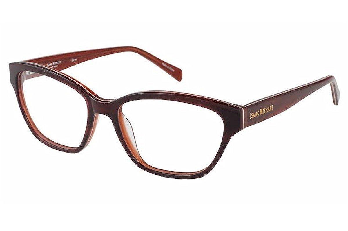 Isaac Mizrahi Womens Eyeglasses IM30013 IM//30013 BU Burgundy Optical Frame 53mm