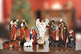 Eleven-Piece Nativity Set, Tallest Piece: 11-1/4'' H.