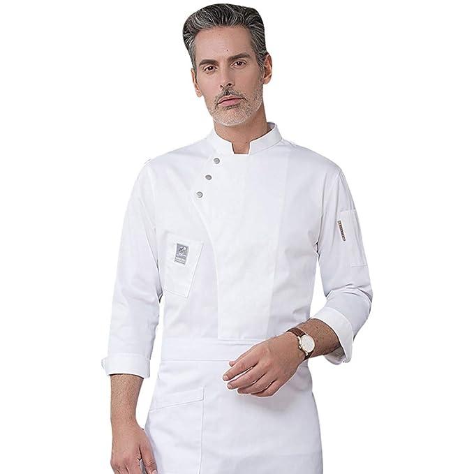 Dooxii Unisex Donna Uomo Autunno Inverno Manica Lunga Giacca da Chef  Professionale Ristorante Occidentale Mensa Hotel Uniformi Divise da Cuoco   Amazon.it  ... b7a2e2ecdaca