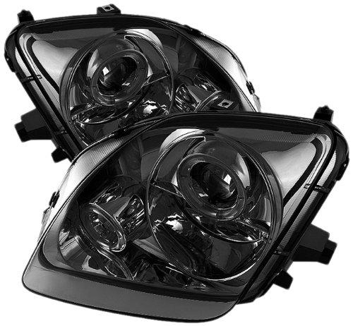 (Spyder Auto PRO-YD-HP97-HL-SM Smoke Halo Projection Headlight )
