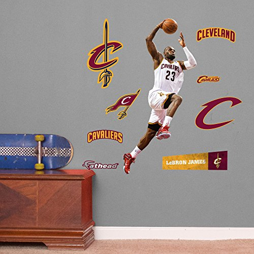 8b99b3c95056 NBA Cleveland Cavaliers LeBron James Dunking Fathead Junior Wall Decals