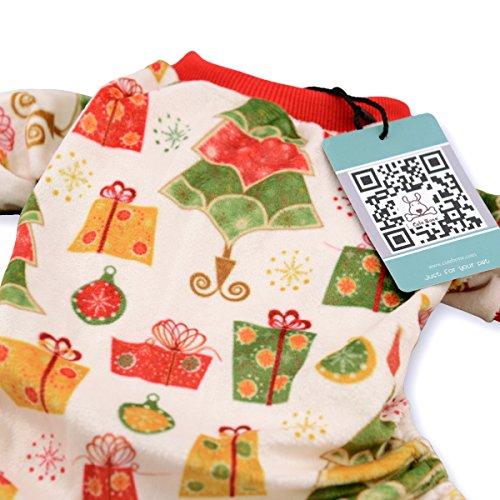 CuteBone Dog Pajamas Dog Coat Xmas for Puppy Dog Apparel Dog Jumpsuit Pet Clothes Pajamas Puppy Clothes