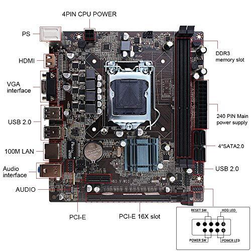Sofobod H61 Motherboard Socket LGA1155, Providing 2 x 8GB Dimms DDR3 Slots Total Support 16GB RAM, USB2.0, SATA2.0 VGA, HDMI - Micro ATX …