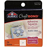 Office Products : Elmer's E4008 CraftBond Adhesive Squares, Double Sided, Permanent, 1/2-Inch by 1/2-Inch, 250 Squares per Pack, Clear