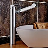 AWXJX European style retro style copper Wash hands Height up Single hole Hot and cold Faucet