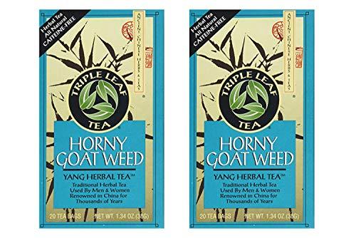 Triple Leaf Tea, Horny Goat Weed - 20 Tea Bags (Pack of 2)