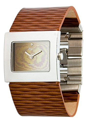 Moog Paris - Sand - Women's Watch with mirror gradual dial, brown strap in Genuine calf leather, made in France - M41511-003