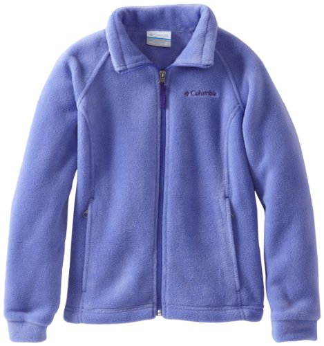 Columbia Little Girls' Toddler Benton Springs Fleece Jacket, Purple Lotus, 2T