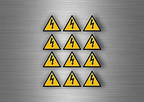 Akachafactory Autocollant Sticker Laptop Danger Electrique electricite Armoire Vinyle