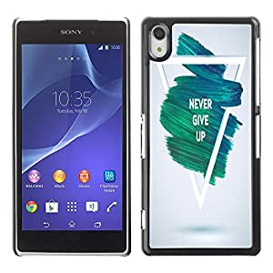 Dragon Case - FOR Sony Xperia Z2 - never give up - Caja protectora de pl??stico duro de la cubierta Dise?¡Ào Slim Fit