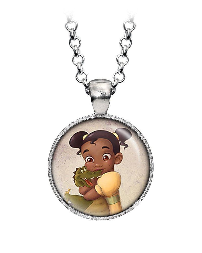 Amazon.com: Young Tiana – Collar, diseño de princesas Disney ...