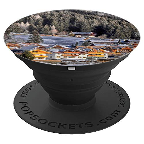(Colle Di Fuori French Village Art Print Chateau Mountains - PopSockets Grip and Stand for Phones and Tablets )