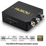 Musou 1080P HDMI to RCA Composite AV Video Audio Converter Support NTSC/PAL for Xbox One,Blu-ray,DVD,PS4,Roku,Chromecast,Laptop,Amazon Fire TV Stick,Apple TV,Black