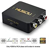 Musou Mini HDMI to 3RCA Composite CVBS Vedio Audio AV Converter Adapter 1080P Supporting PAL/NTSC for Roku 2 Roku 3 and AppleTV,Black