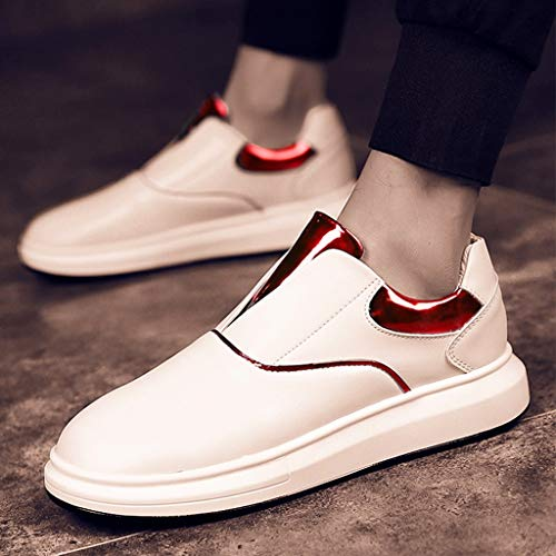 Red Color da scarpe casuale Red uomo da Scarpe traspirante di WangKuanHome tendenza uomo selvaggia 38 da uomo scarpe scarpe estate Size tela 1TwSIU5UOq