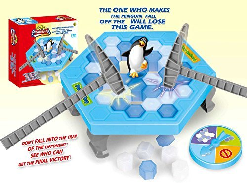 Puzzle Table Games Balance Ice Cubes Save Penguin Icebreaker Beating Interactive Destop Party Games Penguin trap Ice Crash Game by newfriend